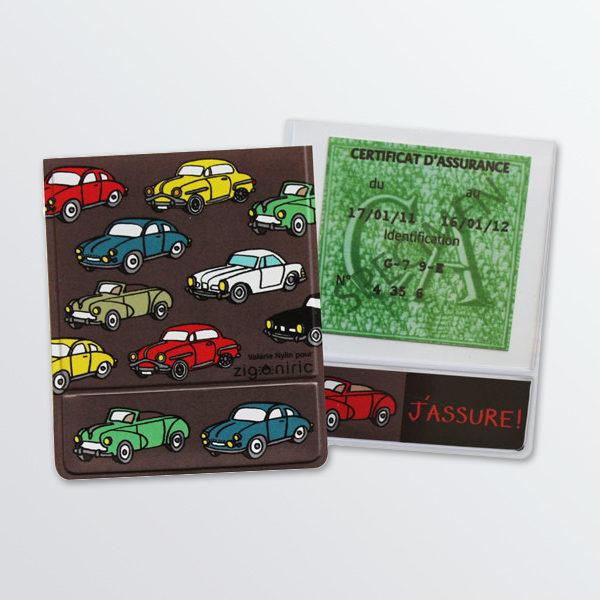 Porte vignette d'assurance Auto rétro-0