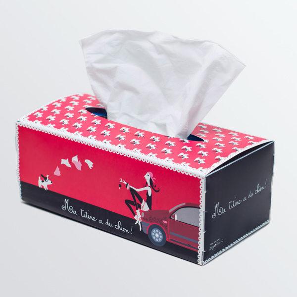 Boîte à mouchoirs Lady Dog-546