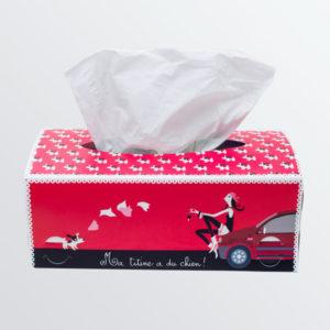 Boîte à mouchoirs Lady Dog-0