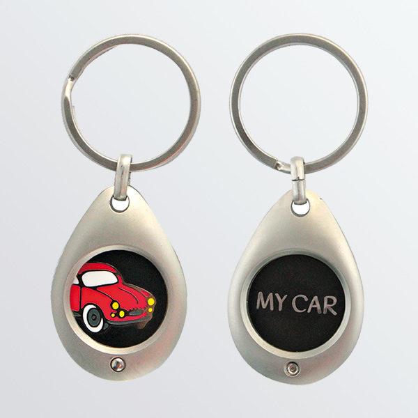 Porte-clés jeton Auto Retro-0