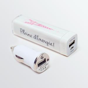 Chargeur - Batterie de Secours Rechargeable Tour Eiffel - 2600mAh-0