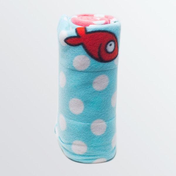 """Plaid polaire """"Les petits pois sont rouges """"-550"""