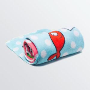 """Plaid polaire """"Les petits pois sont rouges """"-0"""