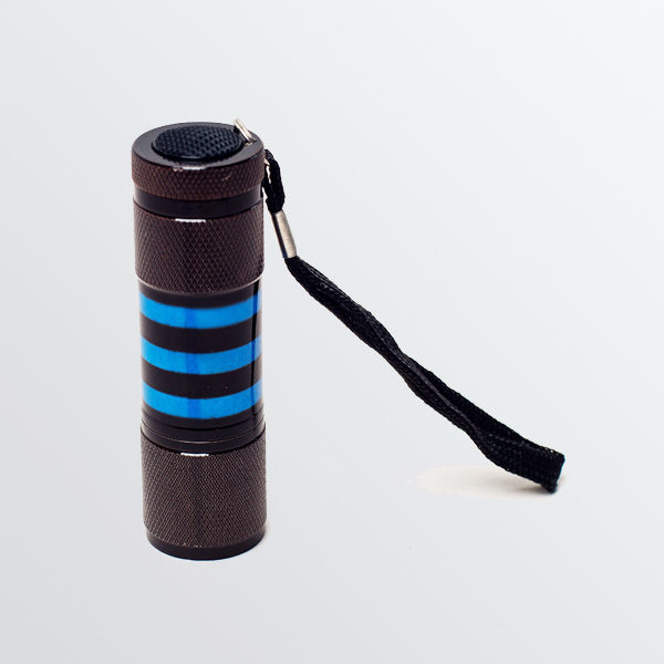 Lampe Led Mer Noire à Rayures Bleues-0