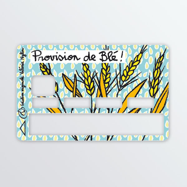 Adhésif de carte bancaire Provision de blé-0