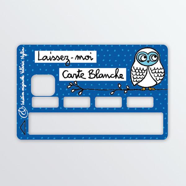 Adhésif de carte bancaire Laissez-moi carte blanche-0