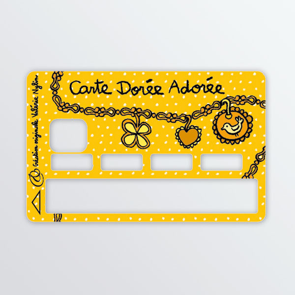 Adhésif de carte Carte dorée adorée-0