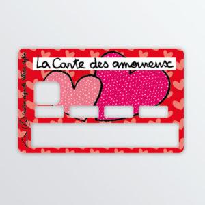 Adhésif de carte bancaire La carte des amoureux-0