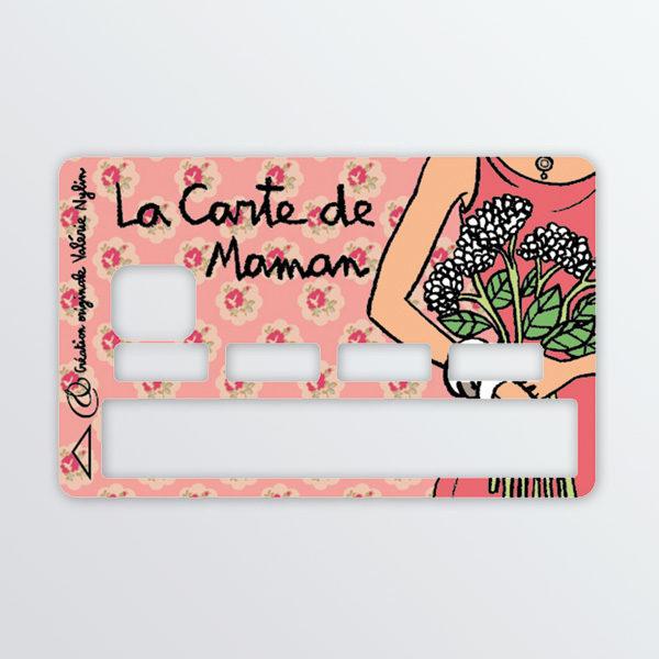 Adhésif de carte bancaire La carte de maman-0