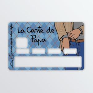 Adhésif de carte bancaire La carte à Papa-0