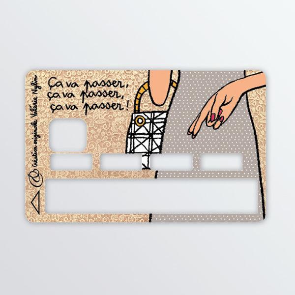 Adhésif de carte bancaire Ca va passer-0