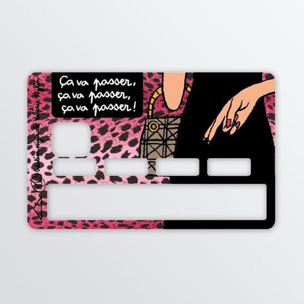Adhésif de carte bancaire Ca va passer-622