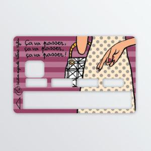 Adhésif de carte bancaire Ca va passer-623