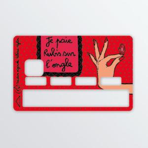 Adhésif de carte bancaire Rubis-0