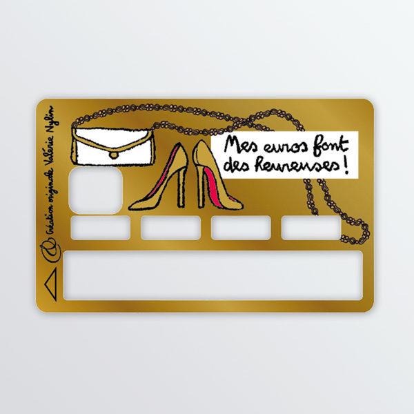 Adhésif de carte bancaire Gold-0
