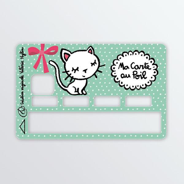 Adhésif de carte bancaire Petit chat-0