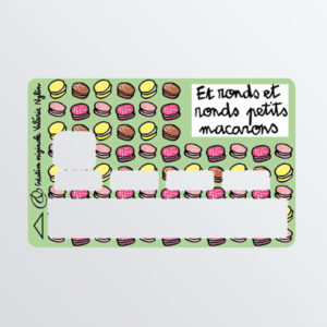 Adhésif de carte bancaire Petits macarons-0