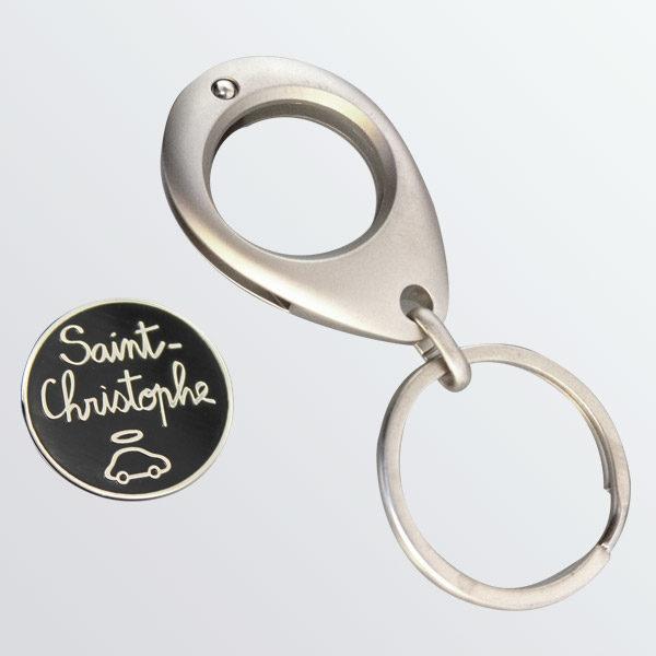 Porte-clés jeton Saint Christophe-772
