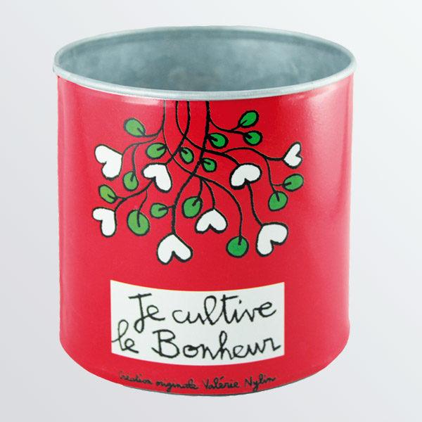 Pot de fleurs Je cultive le bonheur-0