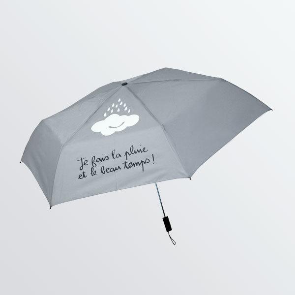 Parapluie pliant gris dessin