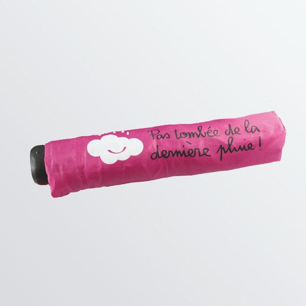 Parapluie pliant rose dessin