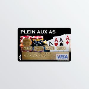 Adhésif de carte bancaire Plein Aux As-0