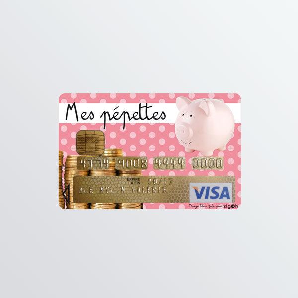Adhésif de carte bancaire Pépètes -0