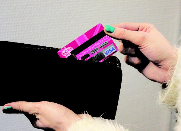 Adhésif de carte bancaire Shopping Queen-0